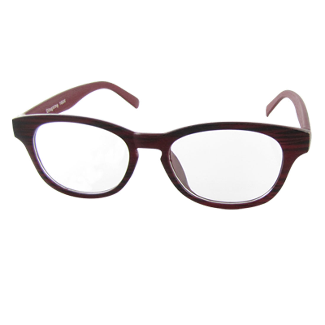 Dark Red Grain Plastic Full-rim UV Protection Glasses