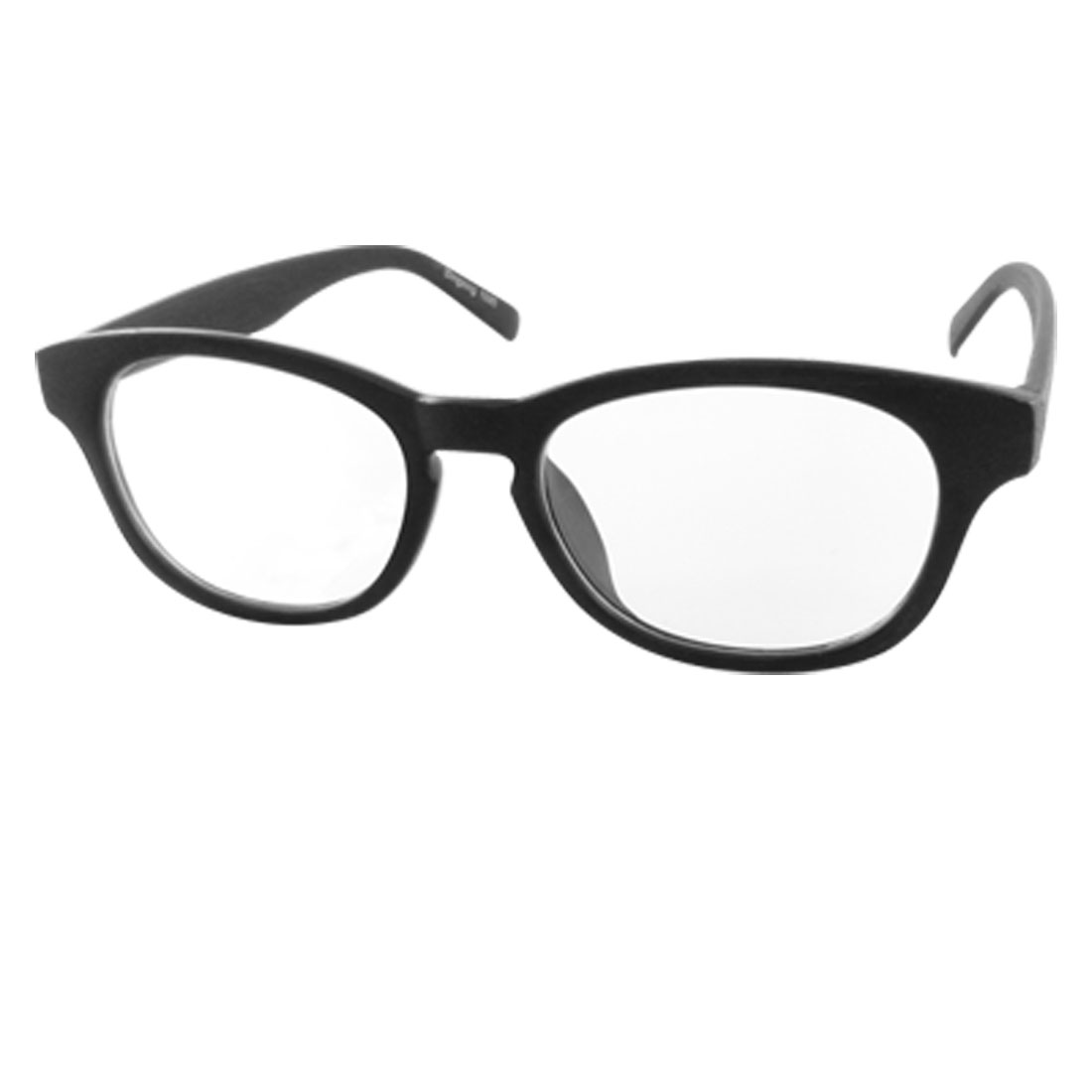 Black Wood Grain Plastic Full-rim UV Protection Glasses