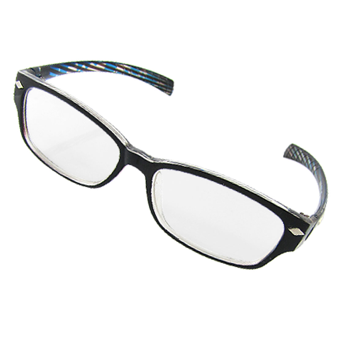 Black Clear Rim Clear Lens UV Protection Plain Glasses