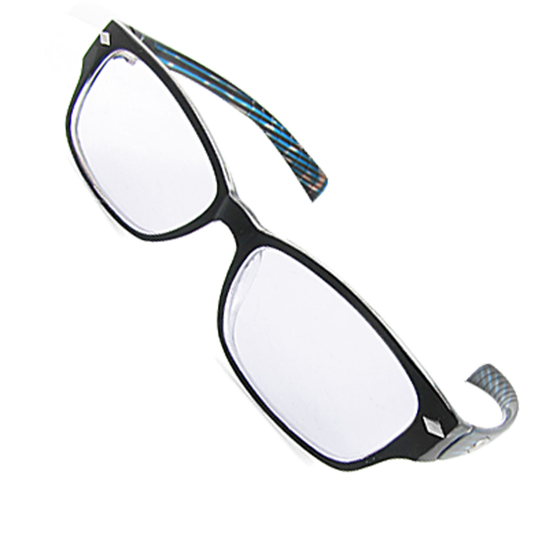 UV Protection Plastic Full Rim Clear Lens Plain Glasses