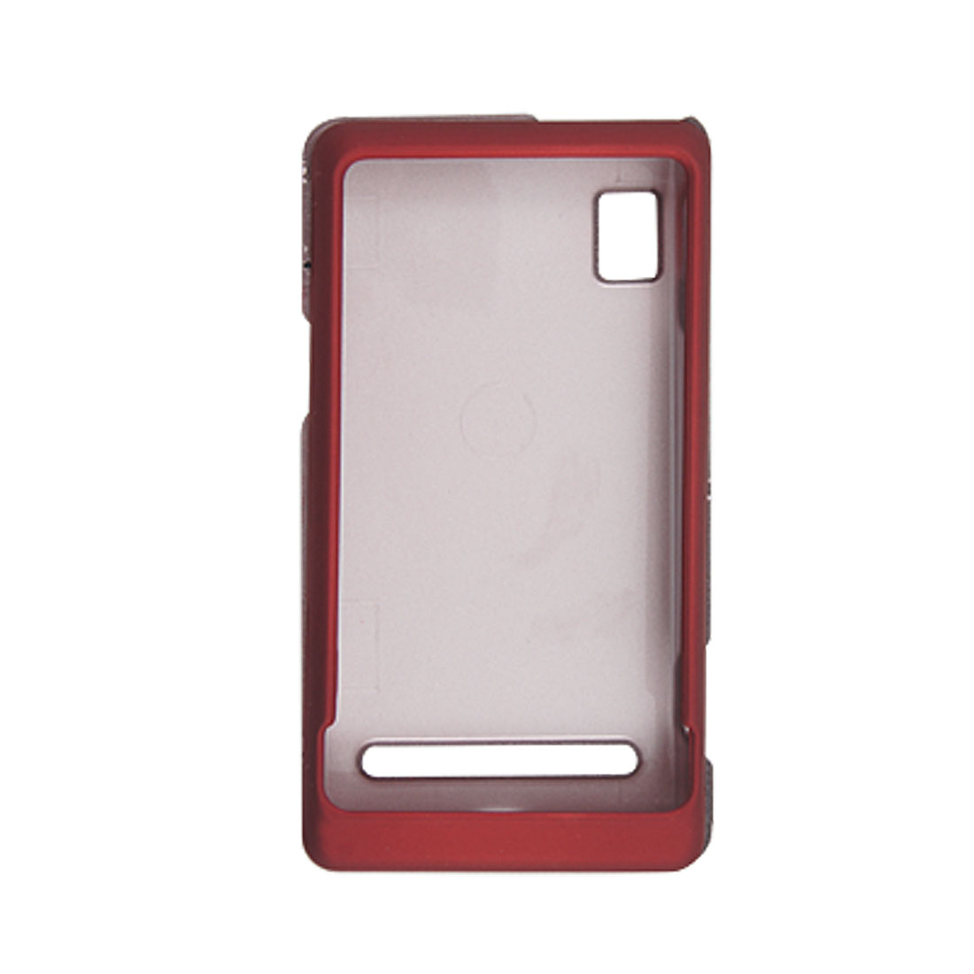 Carmine Rubberized Plastic Case Cover for Motorola A955