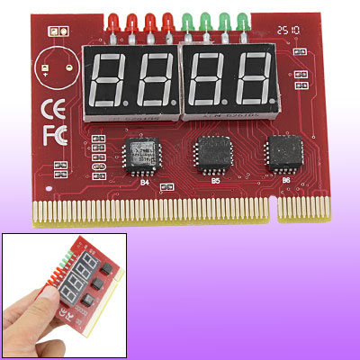 PC PCI 4 Digits Diagnostic Post Card Motherboard Mistake Analyzer Tester