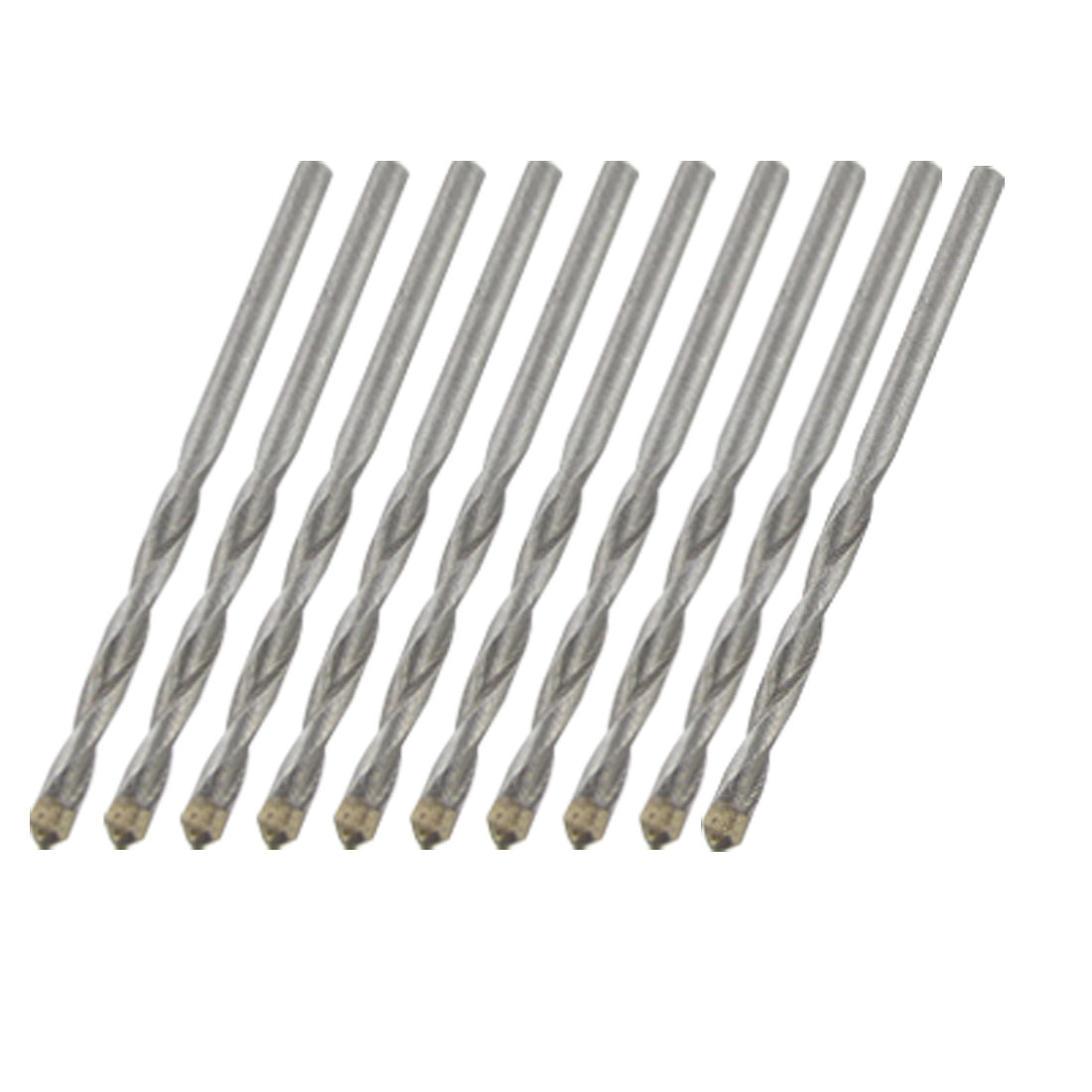10 pcs 6mm Width Tip U-flute Masonry Percussion Hammer Drill Bits
