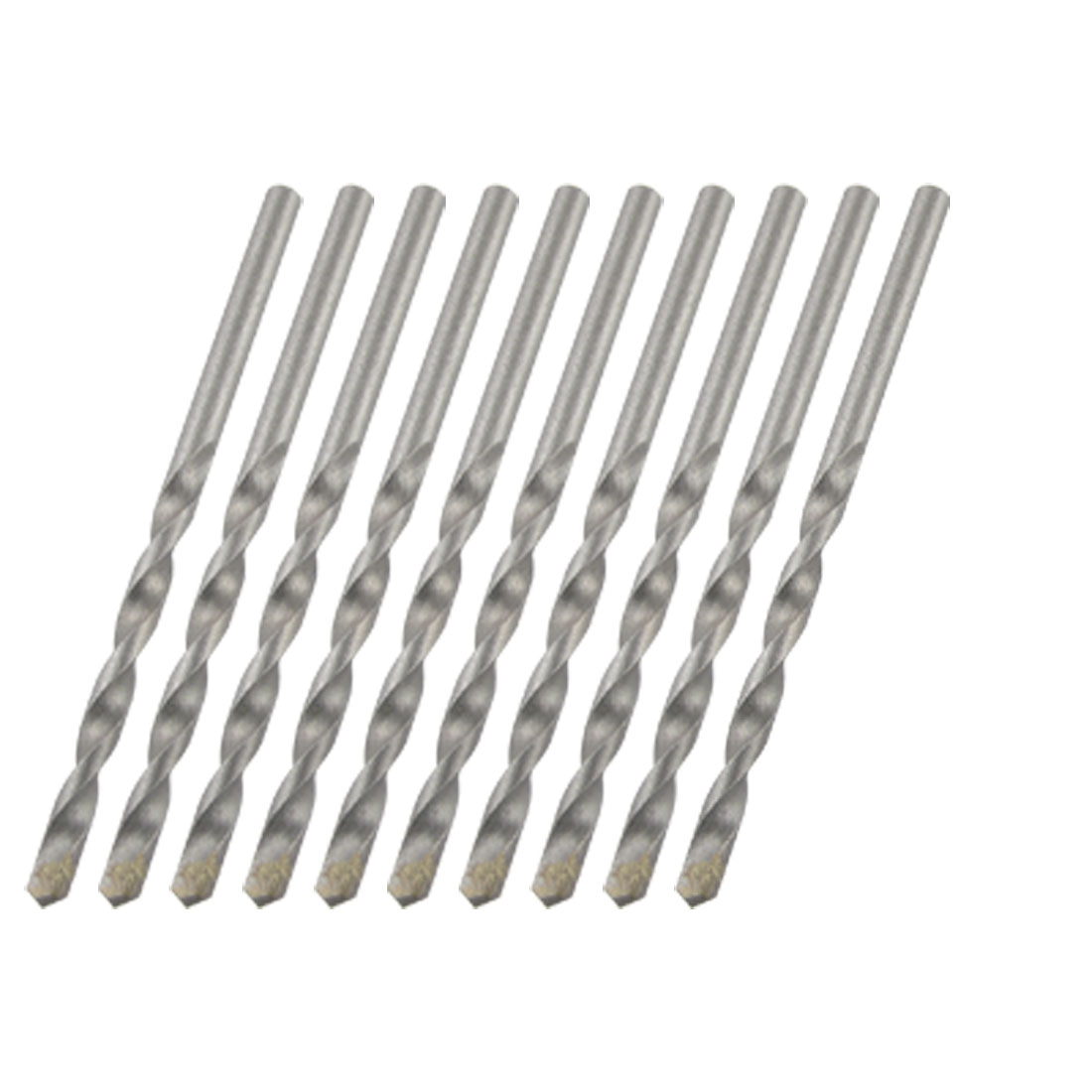 4mm Width Tip U-flute Percussion Masonry Drill Bits 10pcs for Hammering