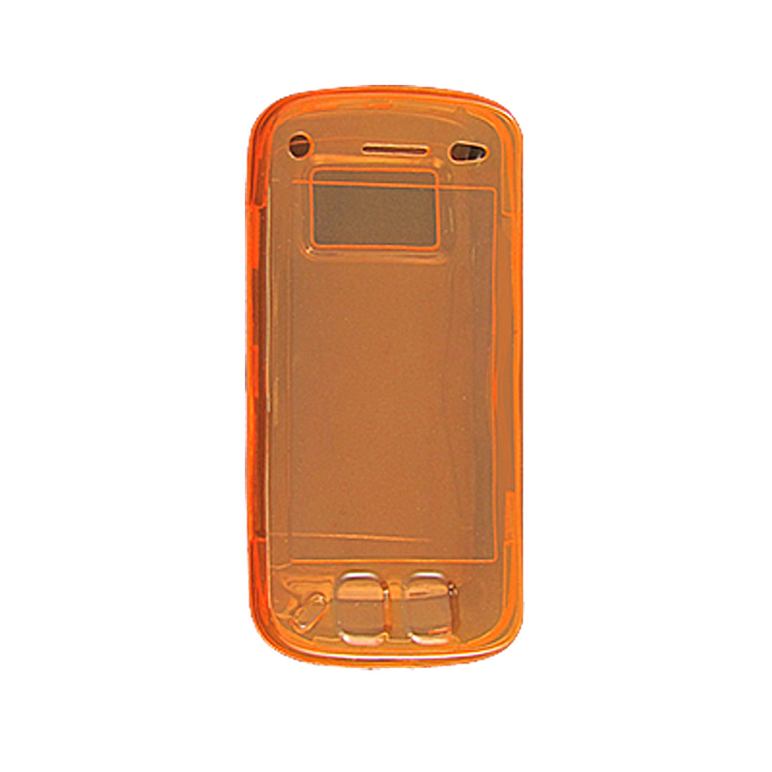 Clear Orange Plastic Soft Cover Protector for Nokia N97