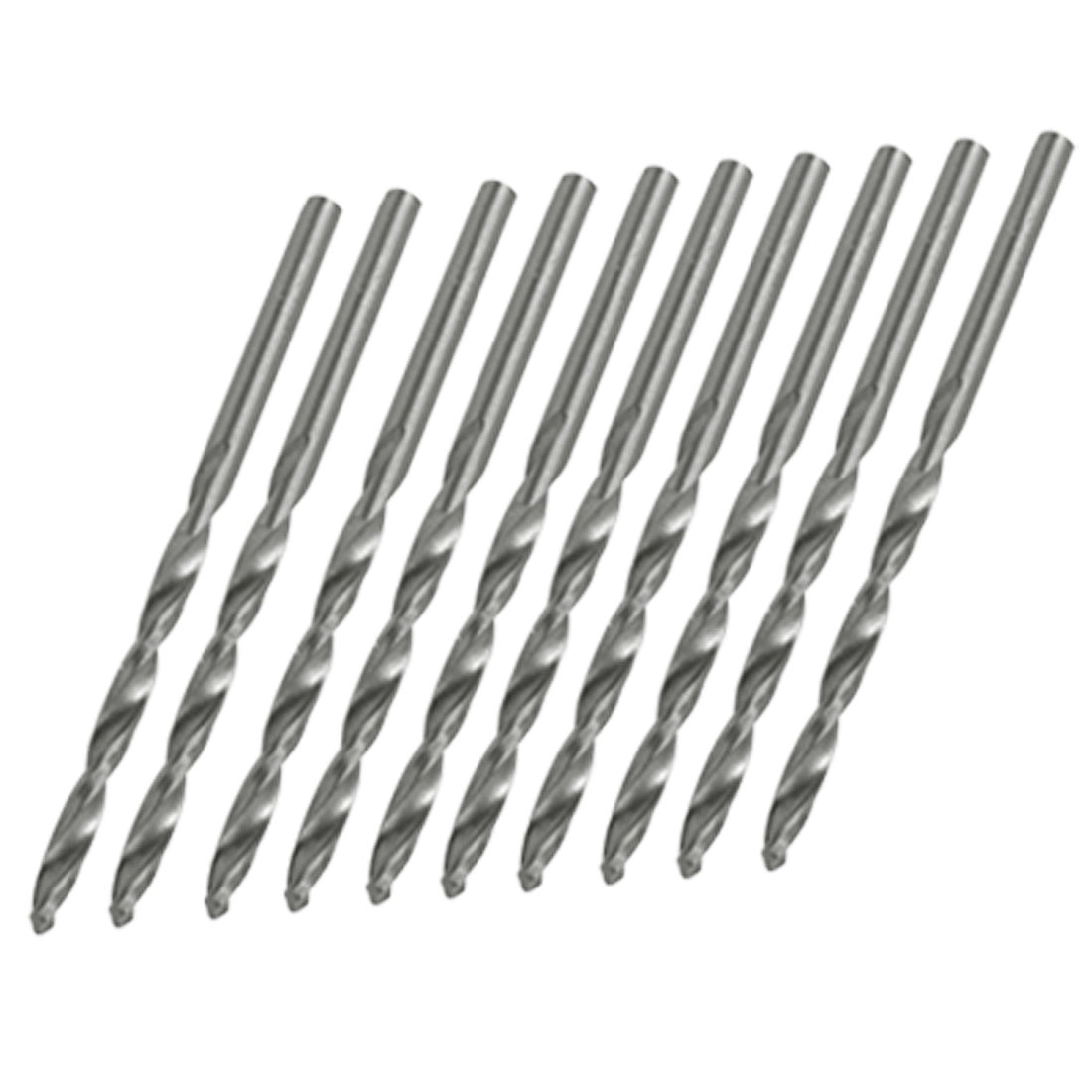 3.2mm Silver Tone Metal Electric Drill Twist Bits 10PCS