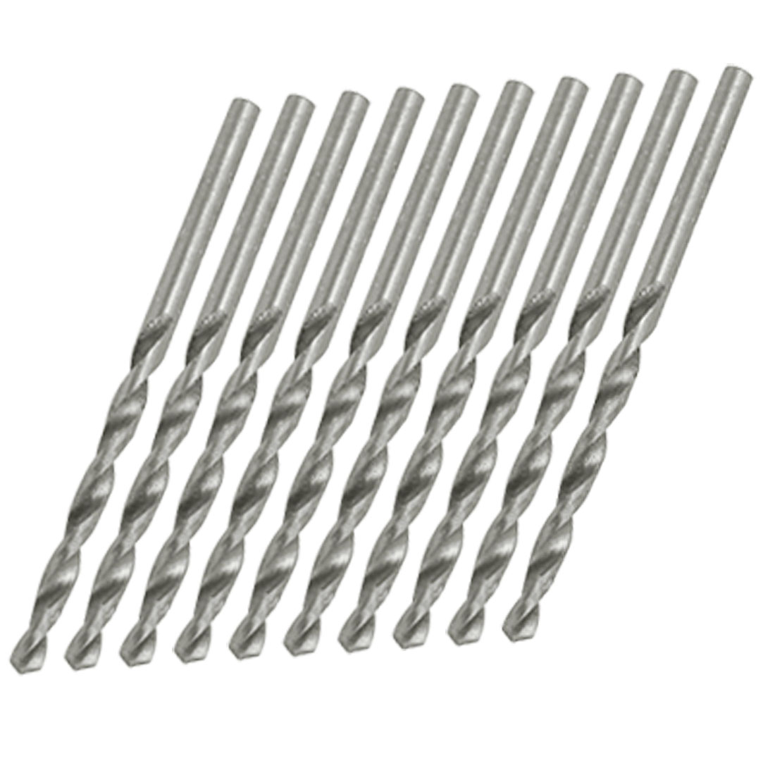 10PCS 3mm Diameter Straight Shank Spiral Twist Drill Bits