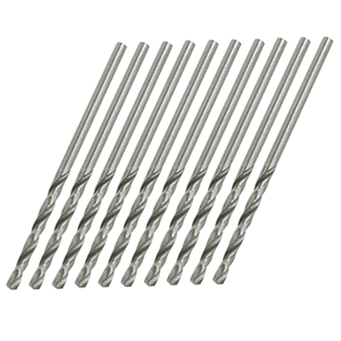 Straight Shank 2mm Dia Metal Drill Twist Bits x 10PCS