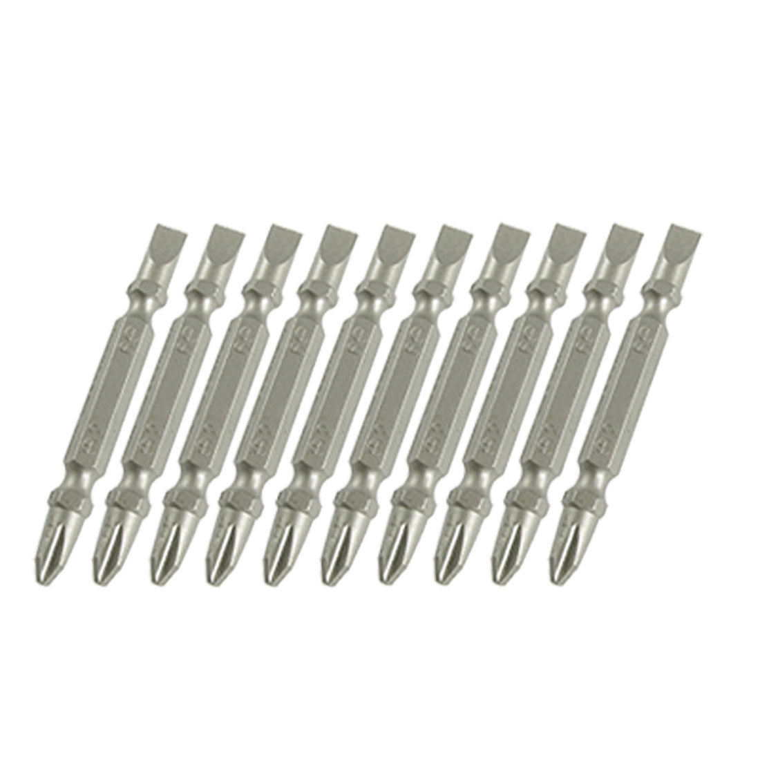 10pcs Replacement Phillips 2mm Slotted 6mm Double Ended Screwdriver Bits