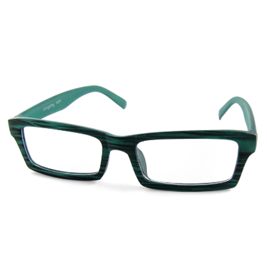 1021 Turquoise Green Wood Grain Frame Eyewear Plain Glasses Spectacles