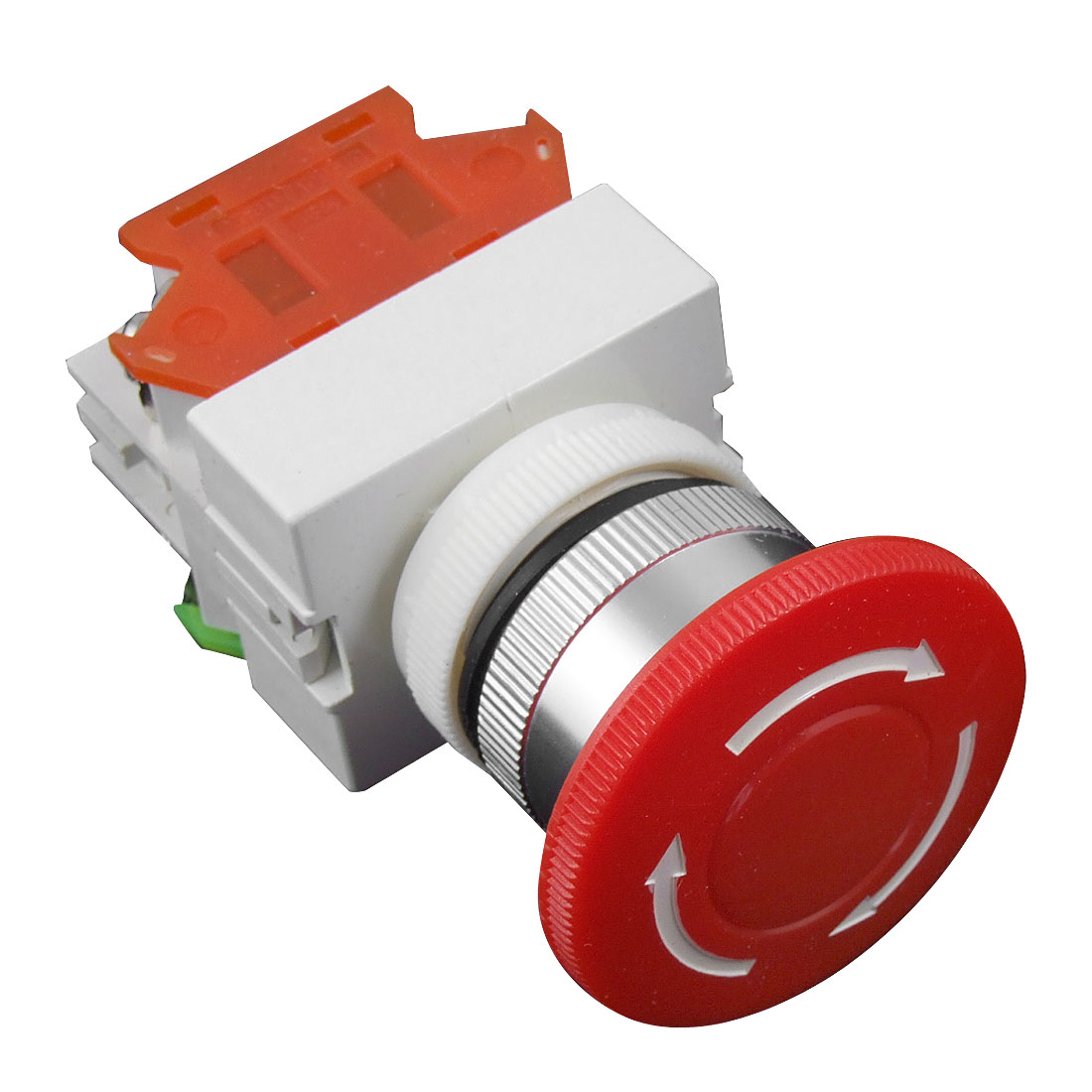 AC 660V 10A 40mm Red Sign Emergency Stop Switch Push Button Mushroom PushButton