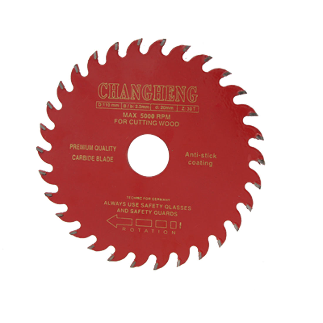 110mm Diameter 30T Woodworking Red Rounded TCT Saw Cutter