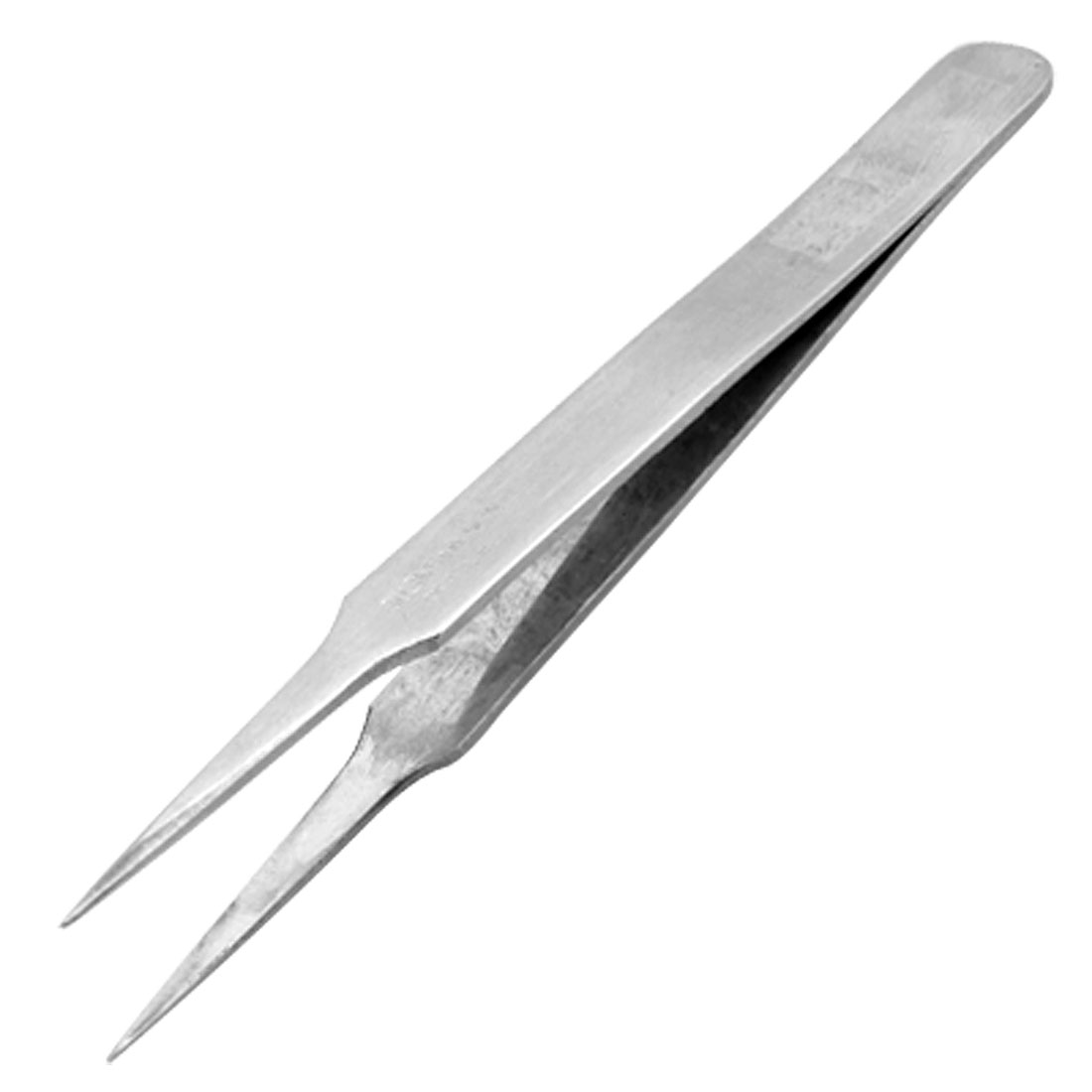12CM Length Silver Tone Forceps Straight Pointy Tweezers