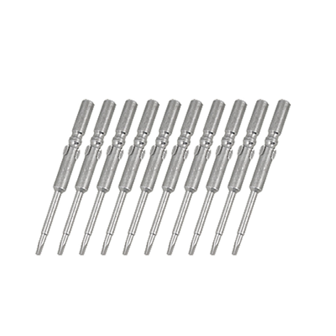 10 PCS Screwdriver Round Shank 5 x 60 x 2mm Triangle Bits Tips