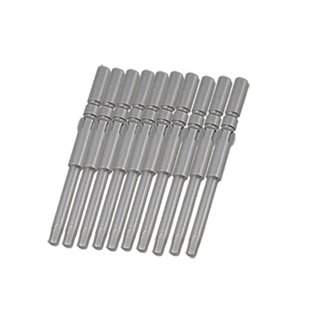 10 PCS 5 x 60 x 3mm Round Shank Hex Bits Tips for Screwdriver