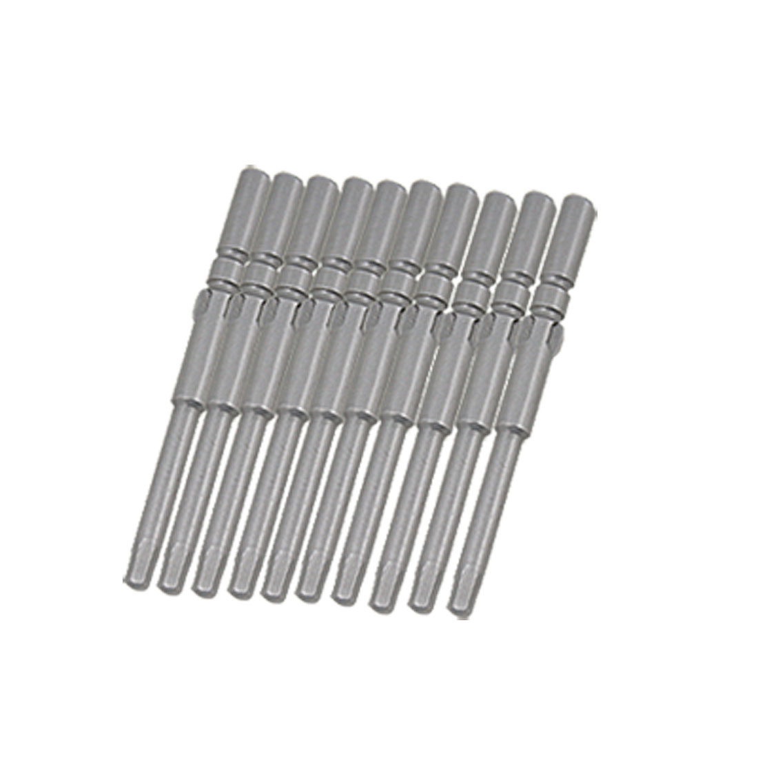 10 PCS 5 x 60 x 2.5mm Screwdriver Round Shank Hex Bits Tips