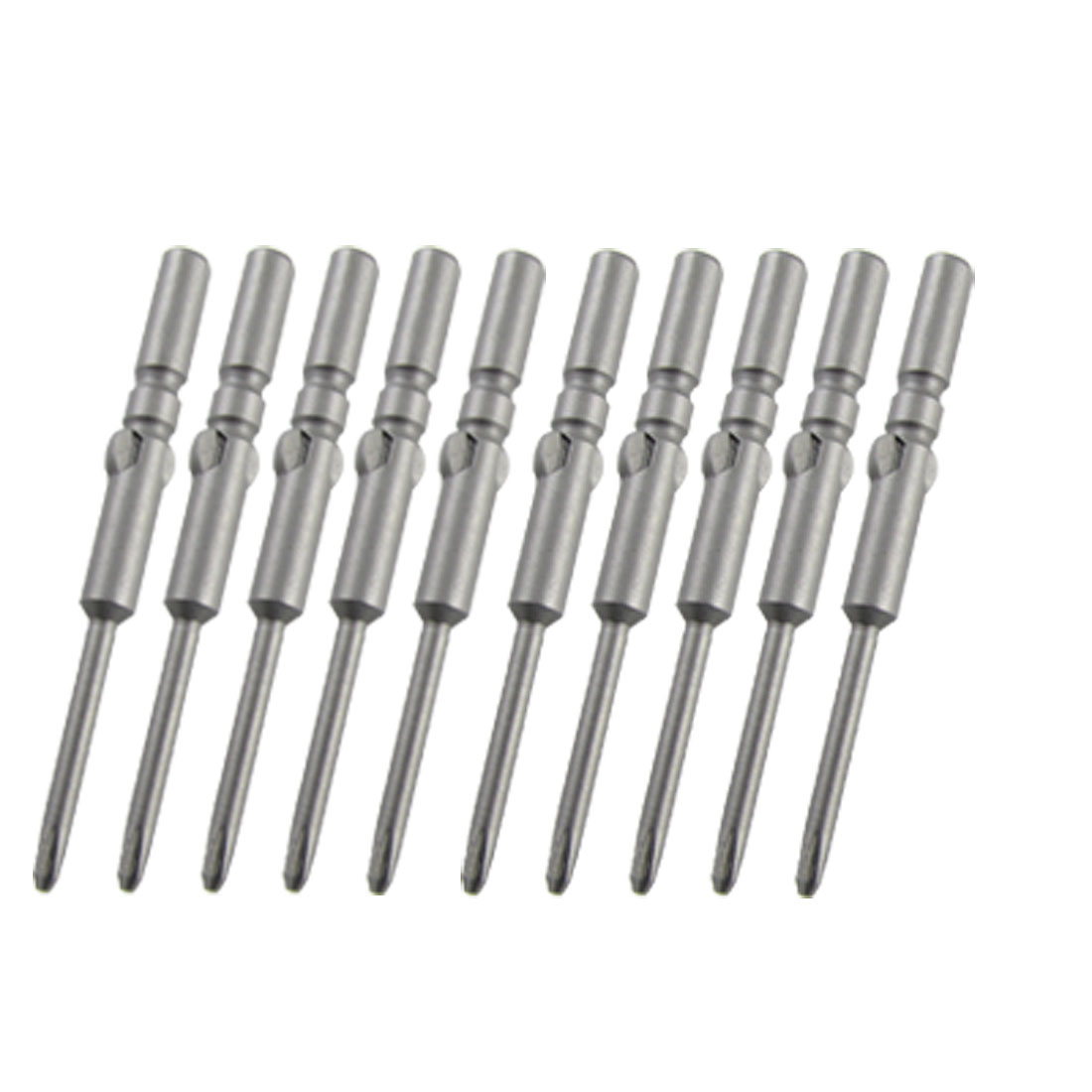 Magnetic Size 0# 2.0mm Cross Shape Screwdriver Bits 10 Pieces