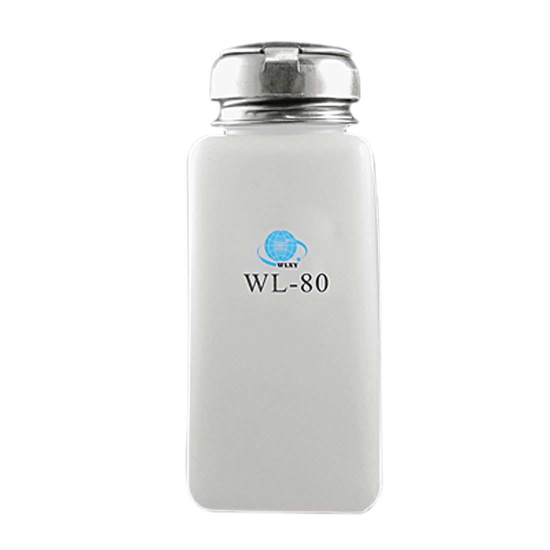 White Silver Tone 250ML Anti-Reflux Alcohol Bottle
