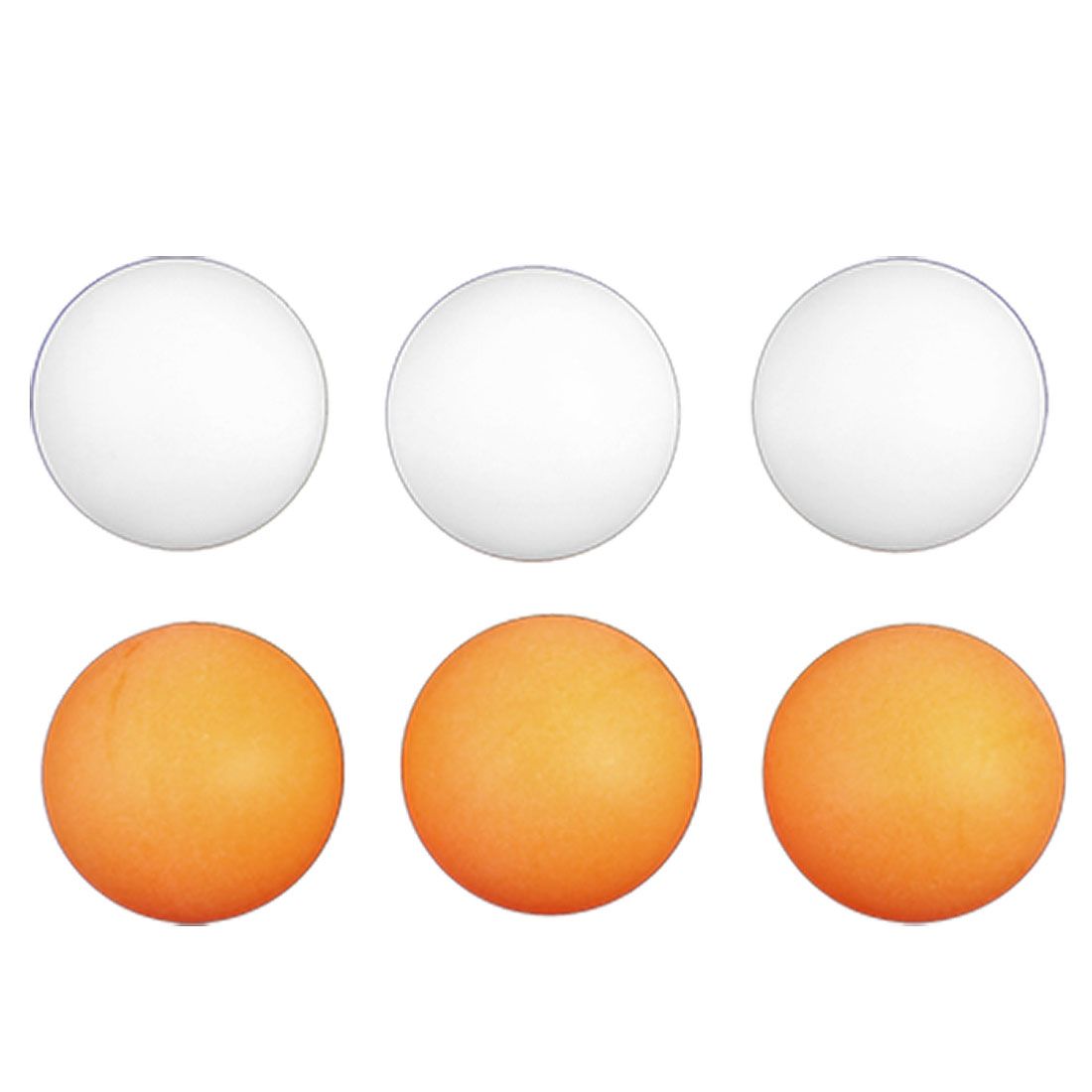 6 Pieces 40mm Diameter Orange White Table Tennis Balls