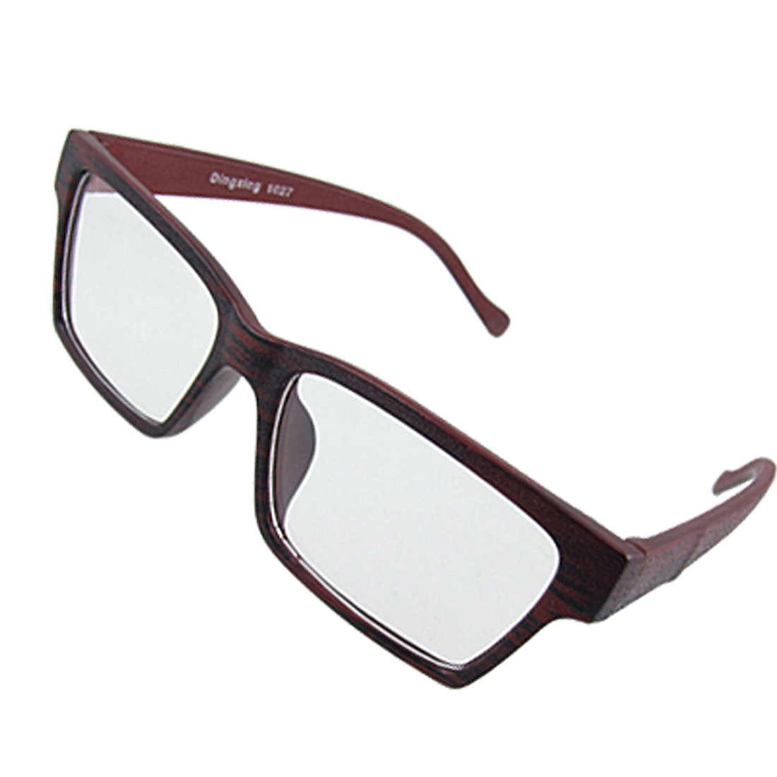 Deep Wine Plastic Full Rim Unisex Clear Lens Glasses