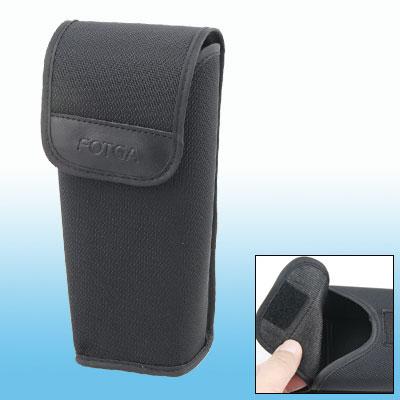 Black Nylon Hook and Loop Fastener Closure Bag Holder for Camcorder