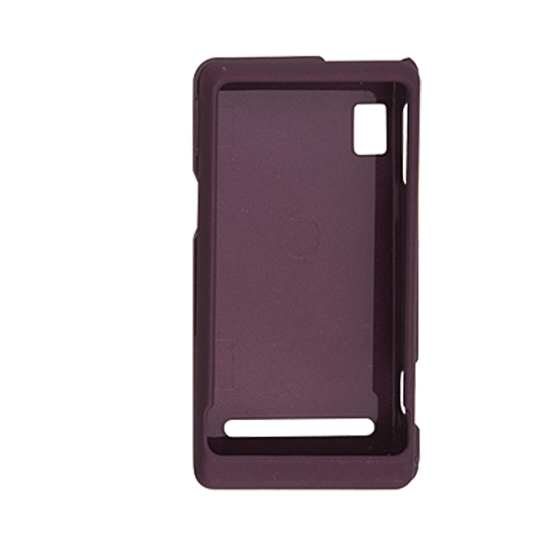 Rubberied Plastic Dark Purple Case Cover for Motorola A955