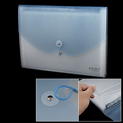 Light Blue Plastic 13-Compartment Business File Document Holder