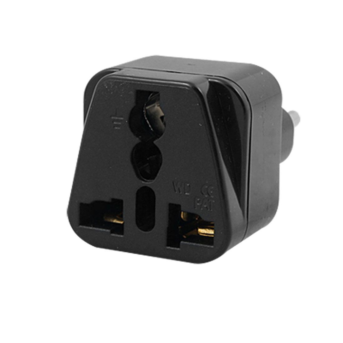 AU US to EU Plug 250VAC Power Plug Socket Universal Adapter Converter Black