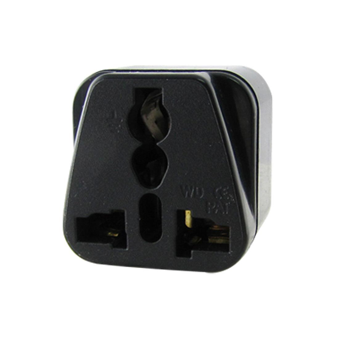 EU Plug to Universal Travel Adapter Converter 250V Black