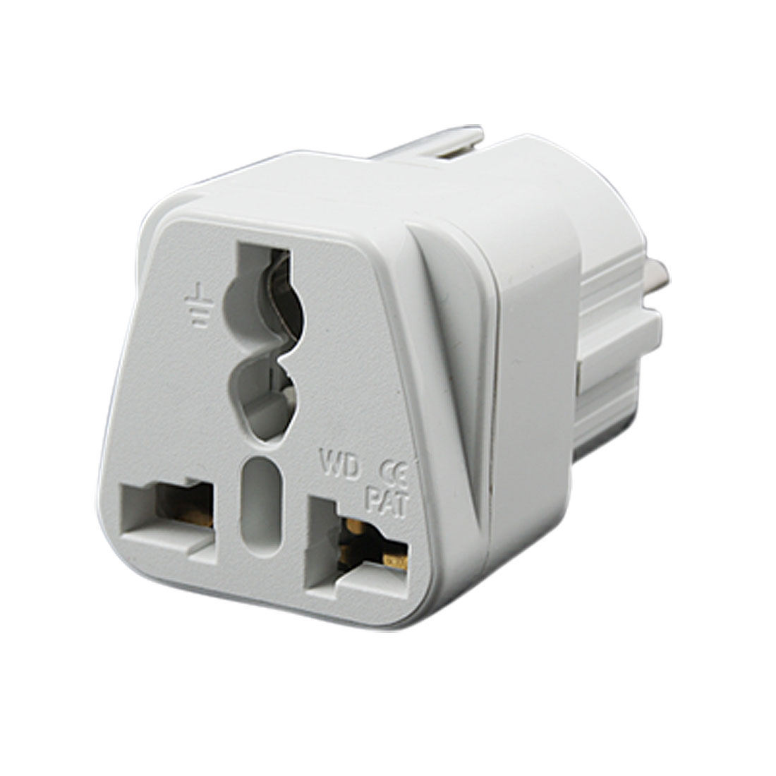 EU Plug to US UK AU Outlet 250V Universal White Power Adapter Charger