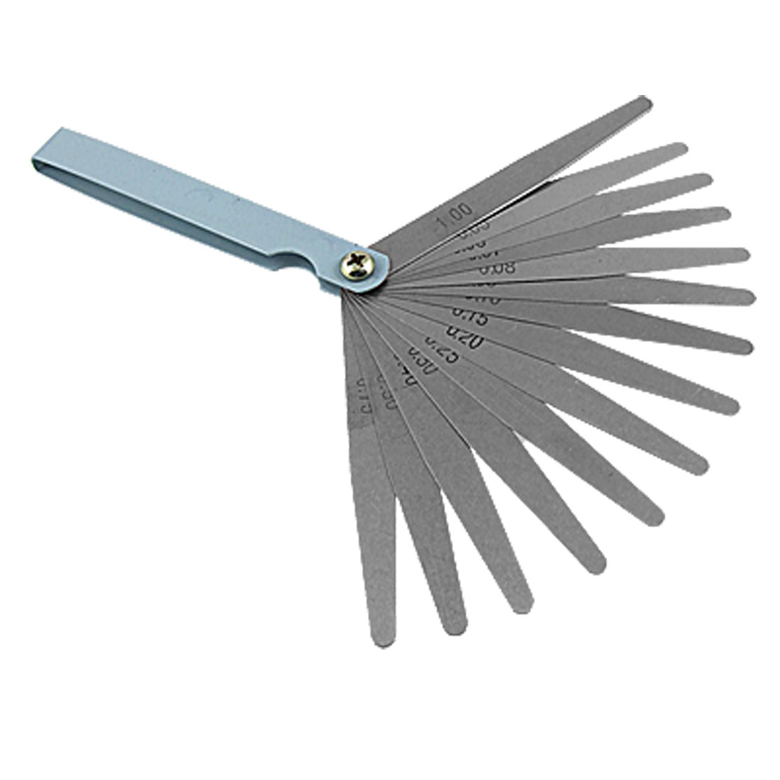14 Leaf Offset Feeler Gauge Model Measure 0.05-1mm