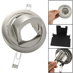 Silver Tone Chrome Hooded LED Marker Lamp Floodlight Cover