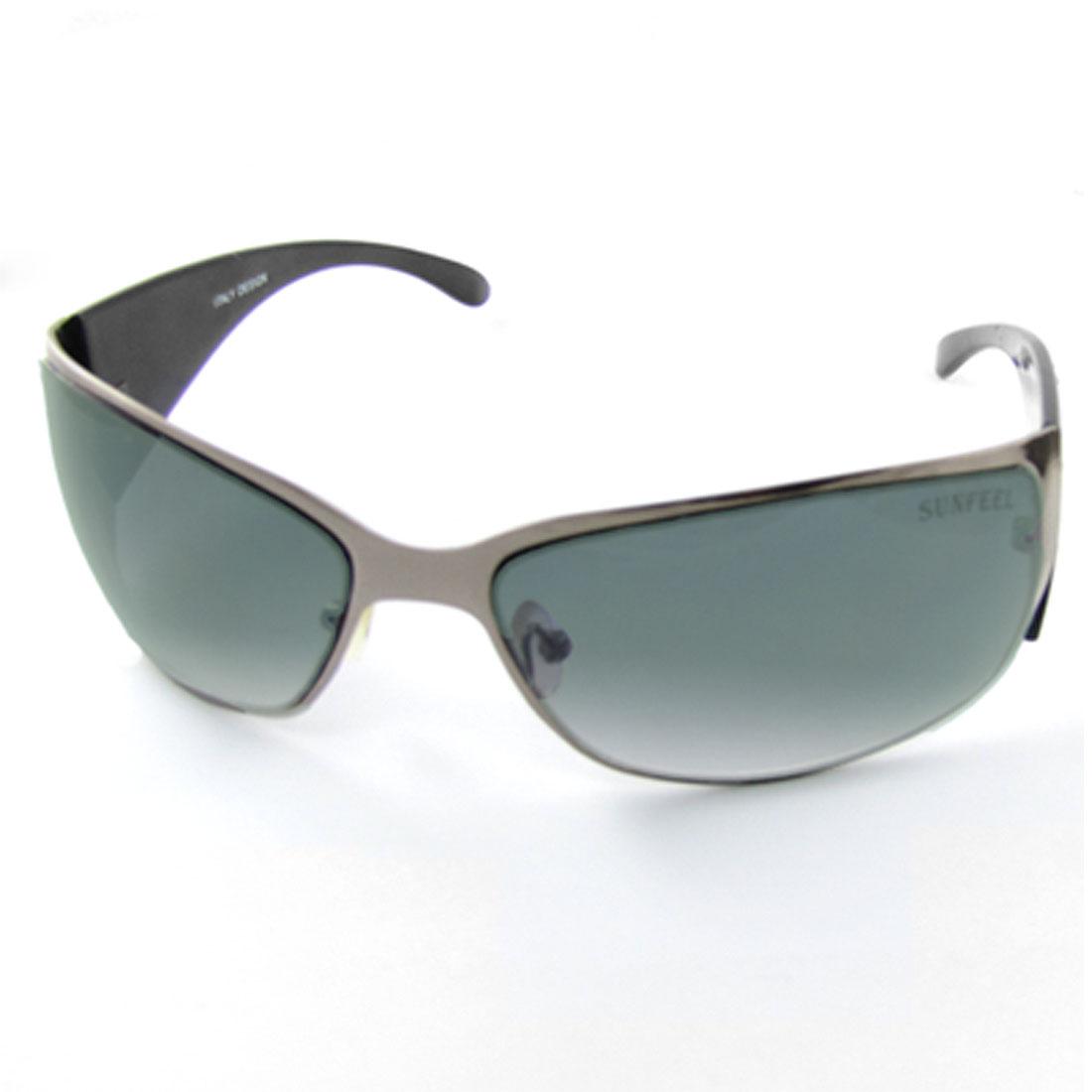 Women Full Frame Rhinestone Decor Black Arms Sunglasses