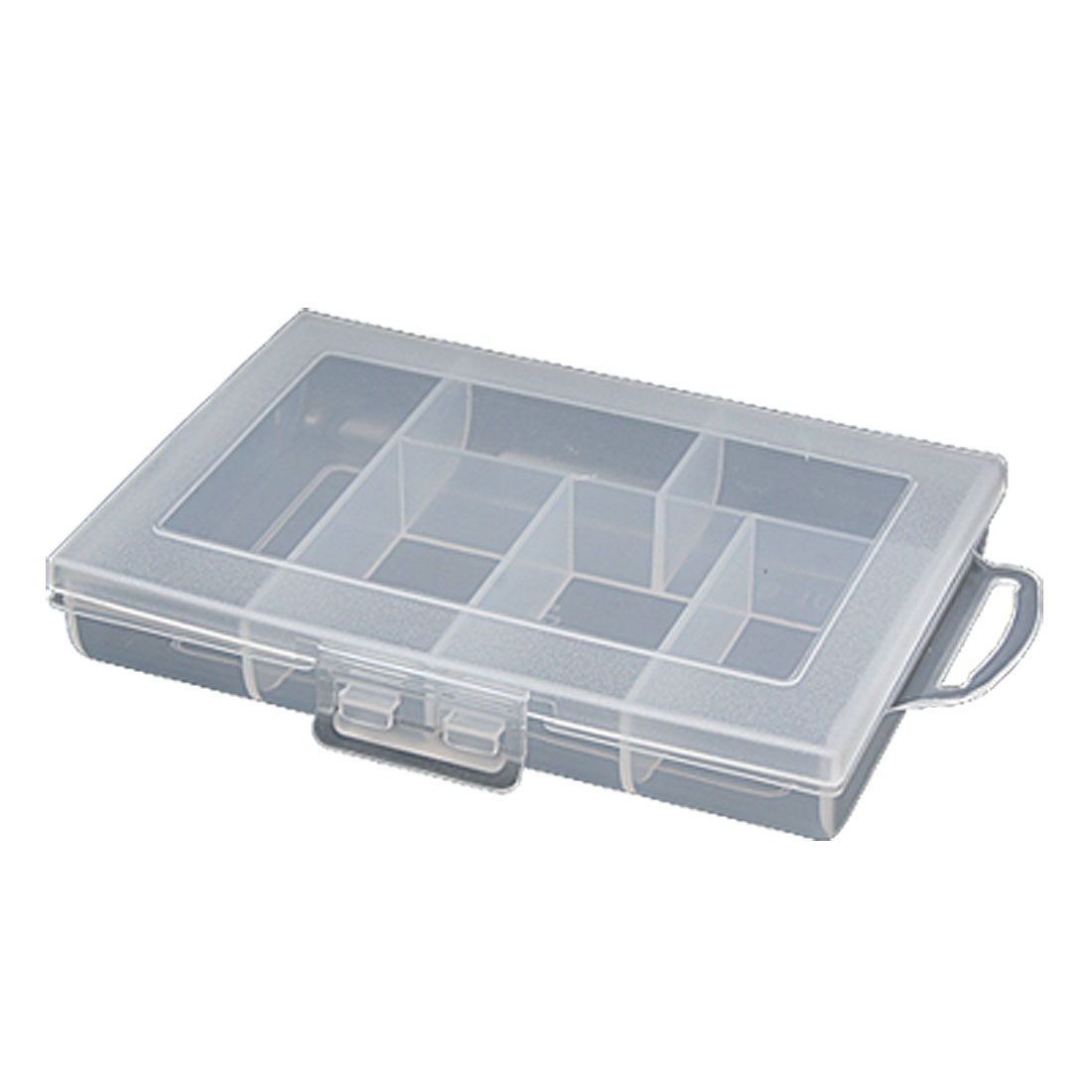 White Translucent Plastic Storage Case Assort Case Components Box