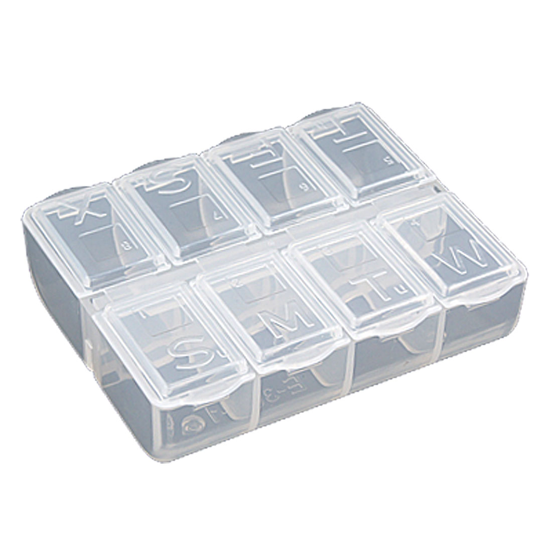 Clear White Clarity Plastic Mini Components Storage Case Organizer