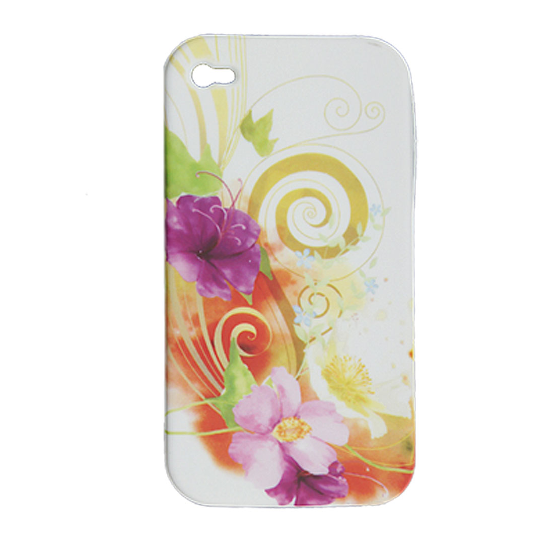 Soft Colorful Plastic Flower Back Case for iPhone 4 4G