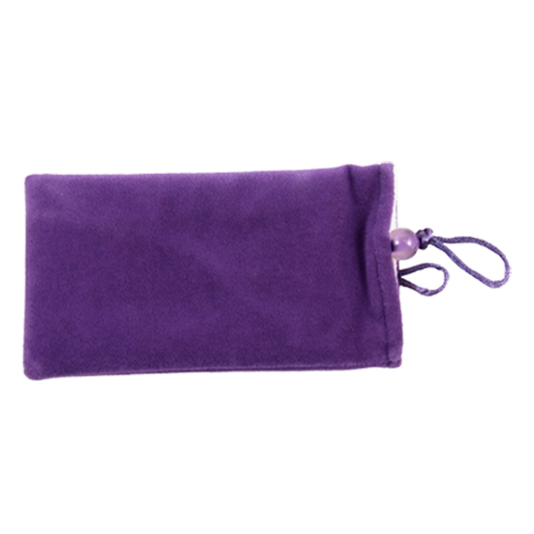 Purple Soft Plush Cell Phone Pouch Bag for Mobile Phone