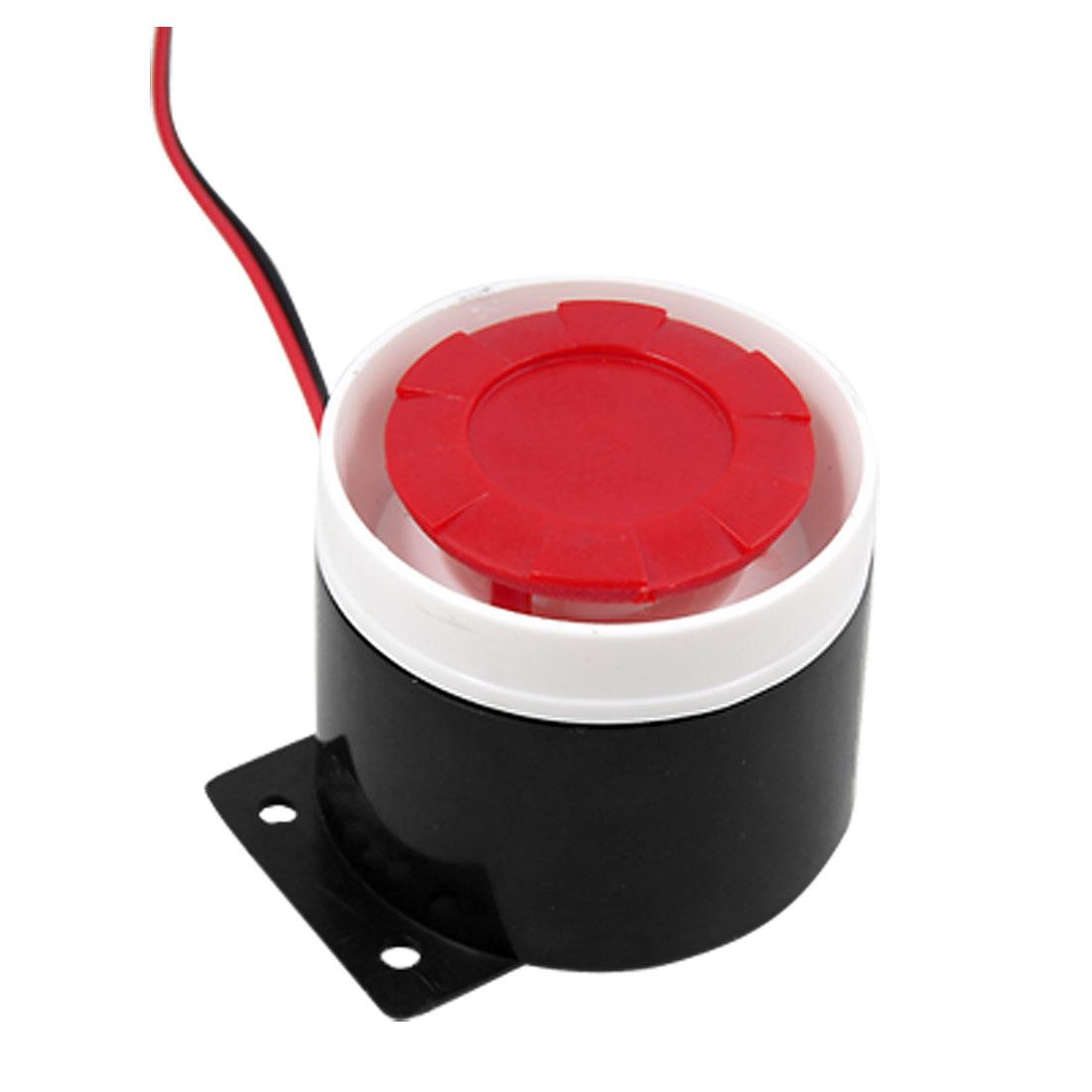 DC 12V Black Red Alarm Buzzer Ringer Annunciator