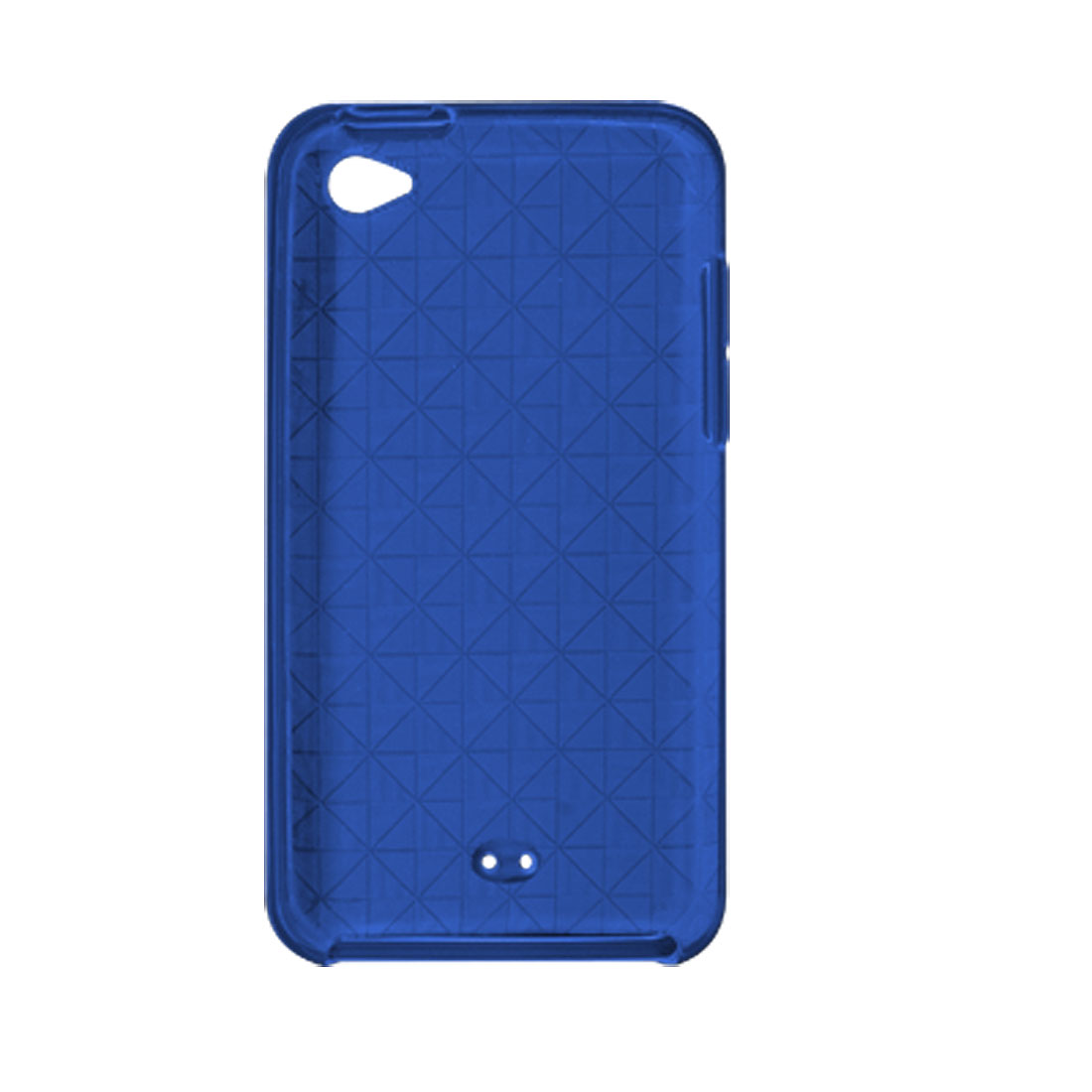Soft Plastic Argyle Clear Blue Back Cover for iPod Touch 4G