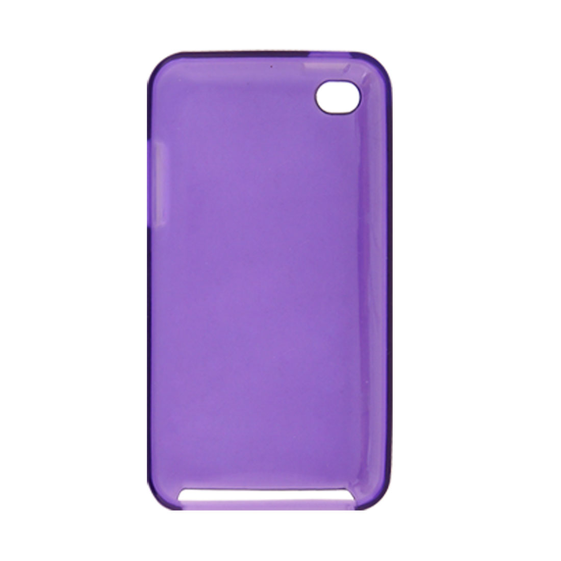 Soft Plastic Purple Skin Back Cover Case for iPod Touch 4G