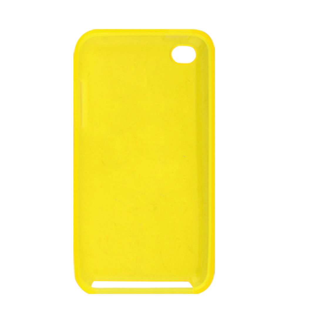 Plastic Yellow Soft Back Protector for iPod Touch 4G