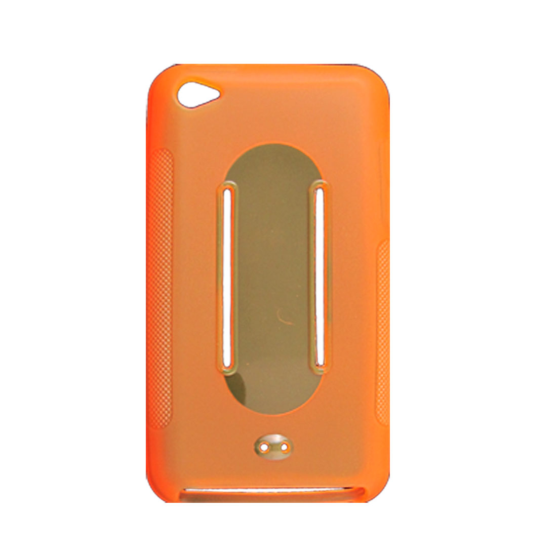 Antiskid Design Clear Orange Case for Apple iPod Touch 4G