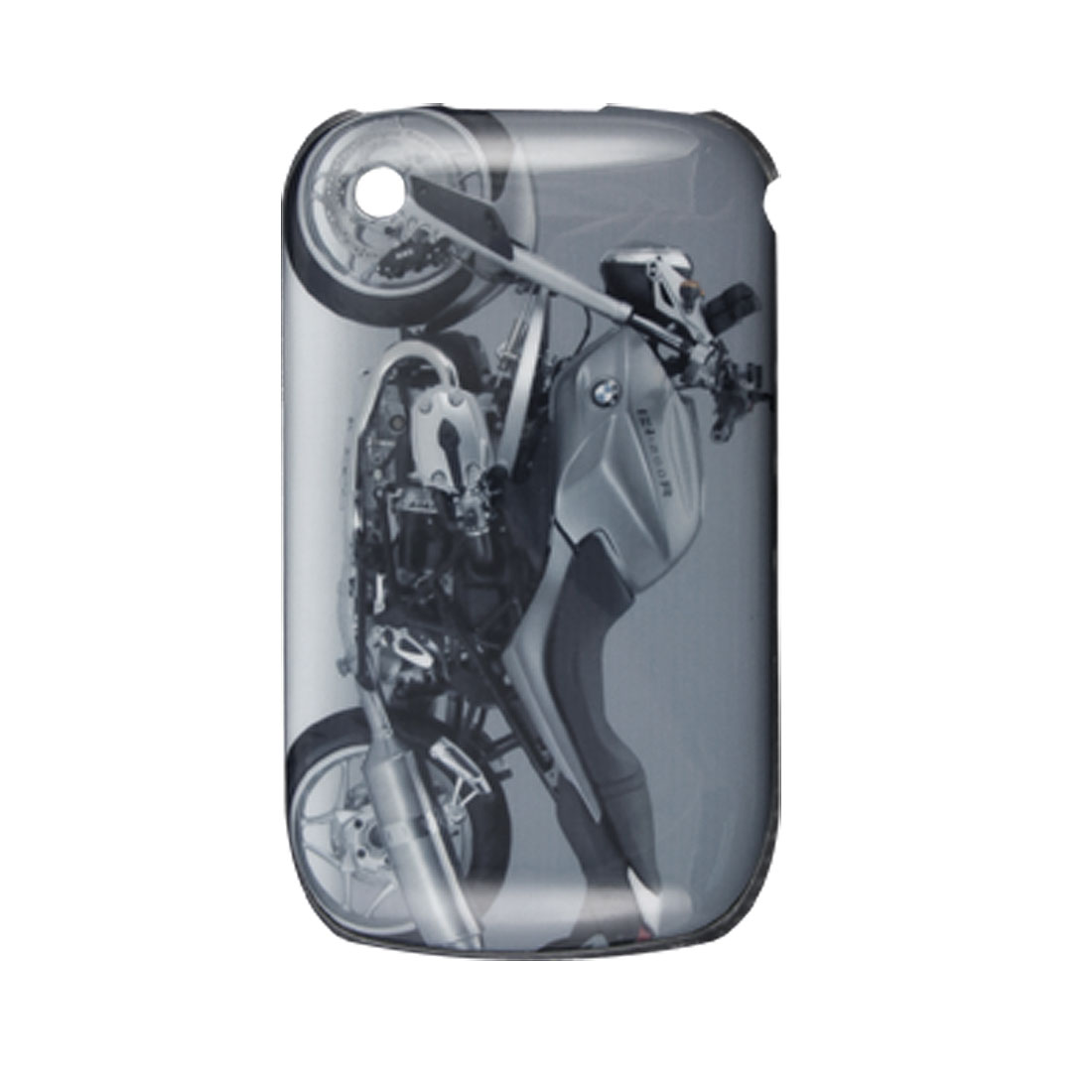 Motorbike Print Plastic Back Case Cover for Blackberry Curve 8520
