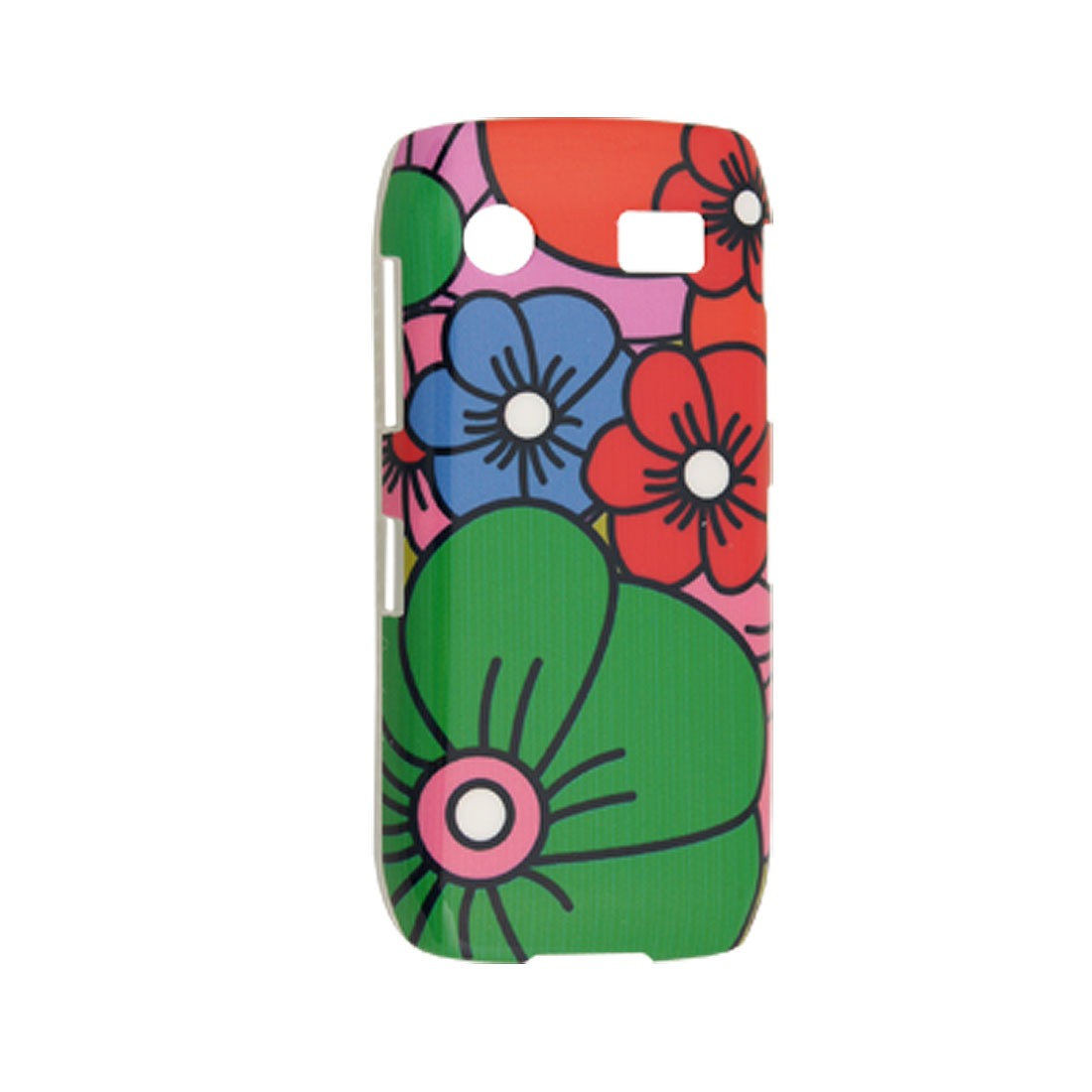 Colorful Floral Print Hard Plastic Cover for Blackberry 9100