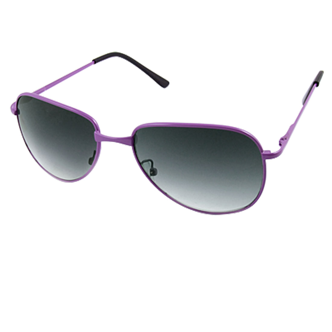 Children Purple Full Rim Plastic Coated Arms Eyewear Sunglasses