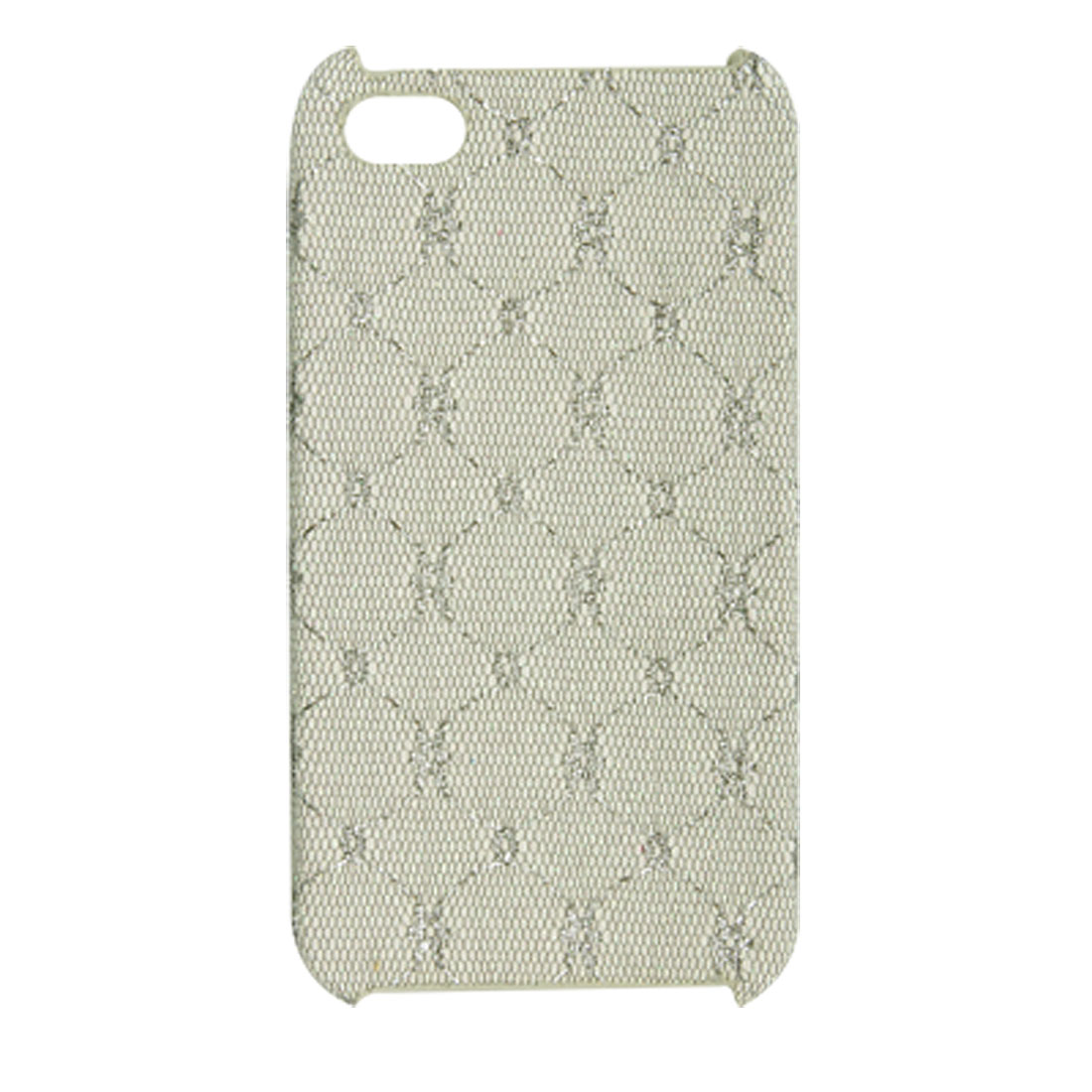 Grey Textured Antislip Glittery Back Shell Case Cover for iPhone 4 4G