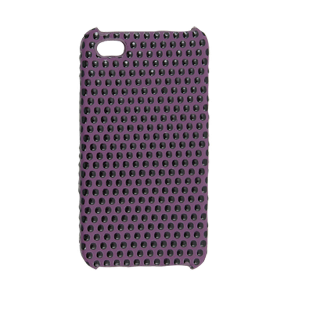Black Dots Purple Plastic Back Case for iPhone 4 4G