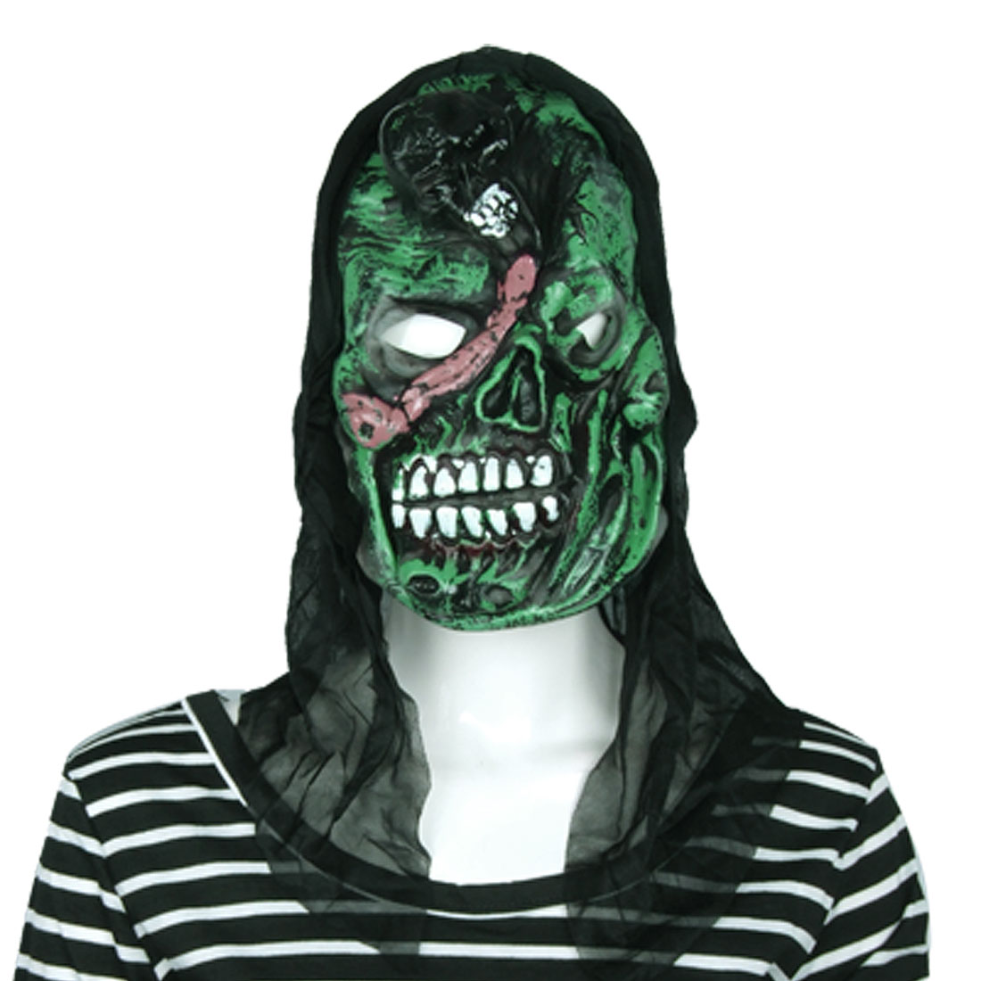 Red Scar Green Horrible Skull Style Mask for Halloween