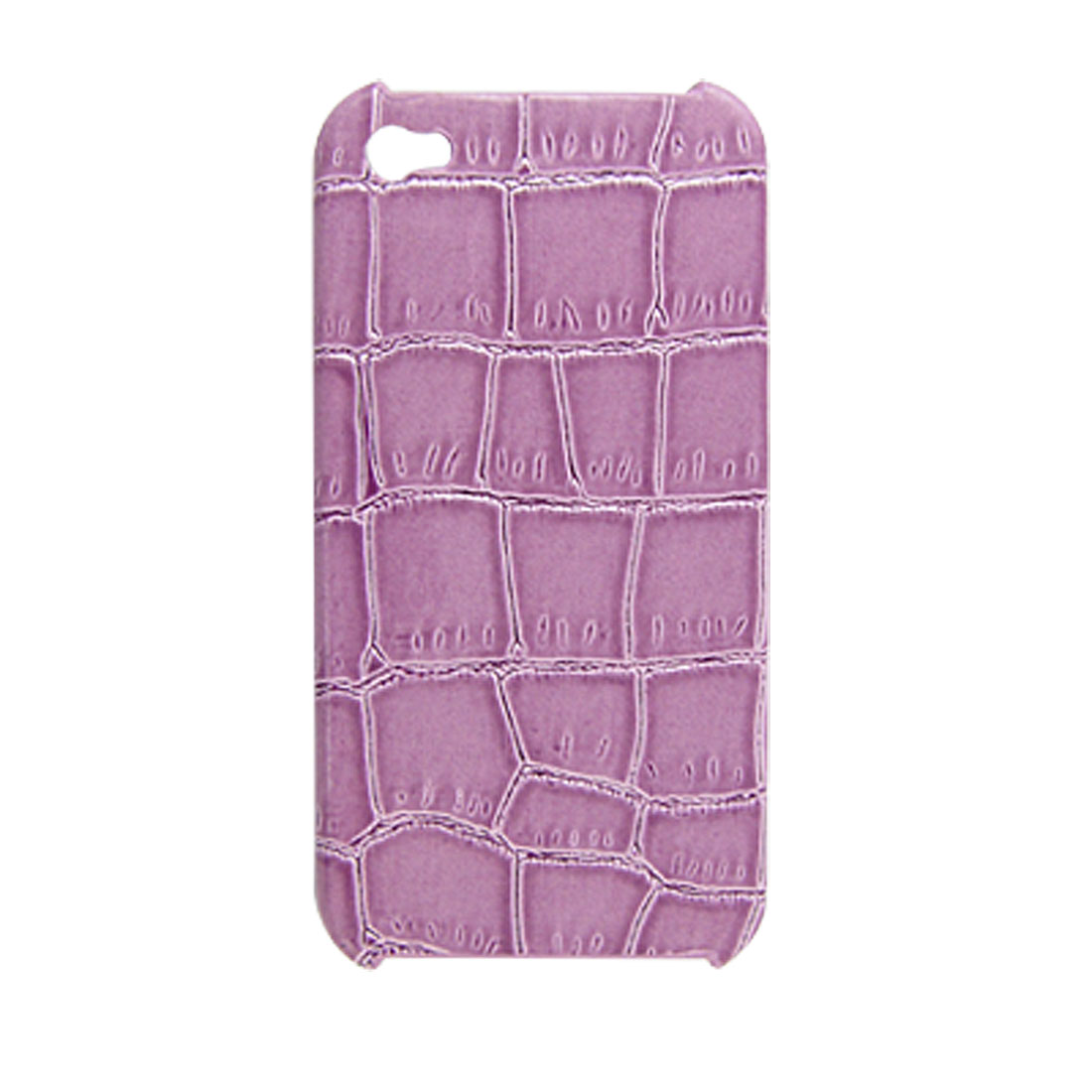 Purple Textured Hard Plastic Back Case for iPhone 4 4G