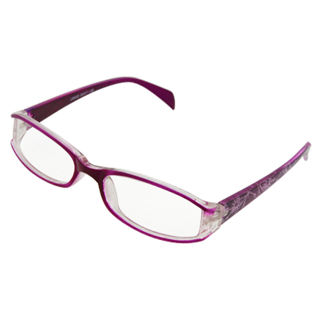 Purple Flowers Arms Full Rim Ladies UV Resistant Sunglasses